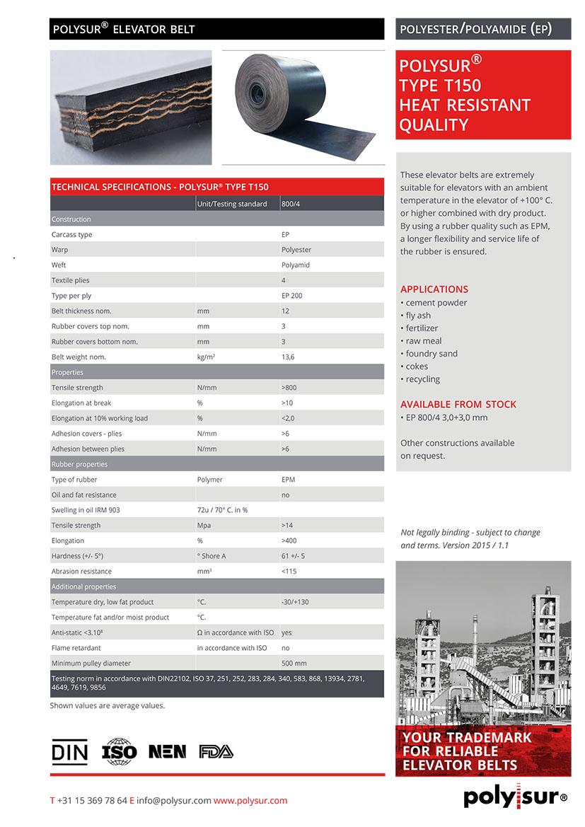 POLYSUR_elevator-belts_Type-T150